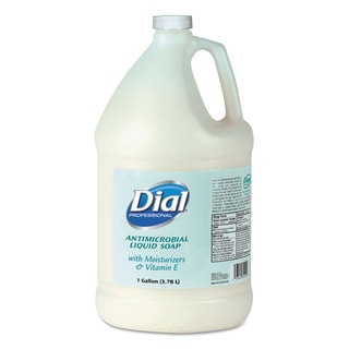 Liquid Dial Antimicrobial Soap with Moisturizers and Vitamin E 1gal Bottle 4/Carton