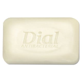 Dial Antibacterial Deodorant Bar Soap Unwrapped White 2.5-ounce 200/Carton