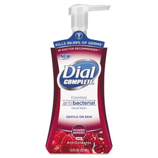Dial Professional Antimicrobial Foaming Hand Soap Power Berries 7.5-ounce Pump Bottle 8/Carton