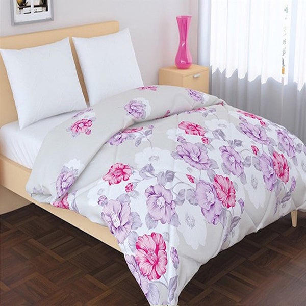 Panache Living Essential Printed Floral Down Alternative Comforter