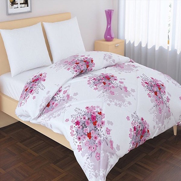Shop Panache Living Essential Floral Design Down Alternative Comforter Free Shipping Today