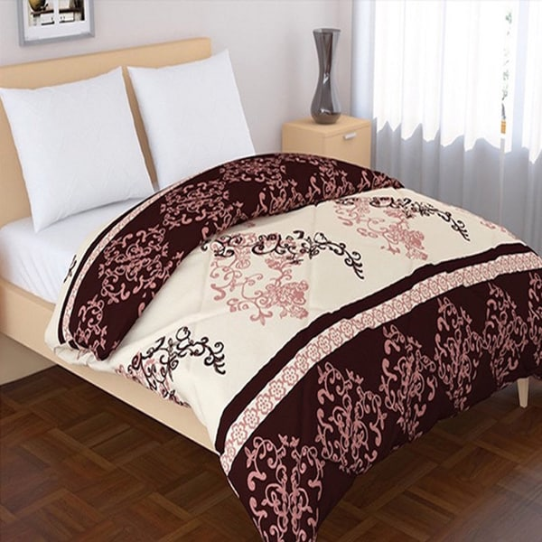 Panache Living Cotton Essential Printed Design Down Alternative Comforter