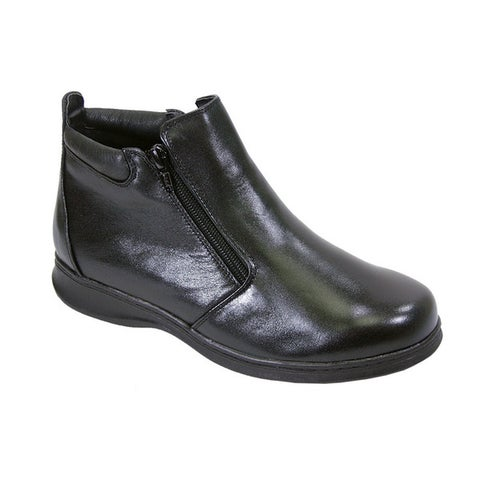 FIC Peerage Juliet Women's Leather Extra Wide Width Casual Ankle Boots