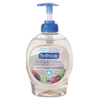 Softsoap Antibacterial Hand Soap White Tea & Berry Fusion 7.5-ounce Pump Bottle 12/Carton