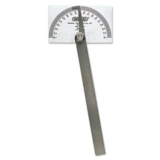 General Pivot-Arm Square-Head Steel Protractor 3 3/8 inches x 2 inches Head 6 inches Arm|https://ak1.ostkcdn.com/images/products/13881241/P20519861.jpg?impolicy=medium