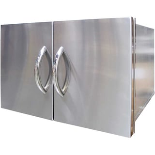 Cal Flame Silvertone Stainless Steel 30-inch Doors and Drawer Combo Cabinet
