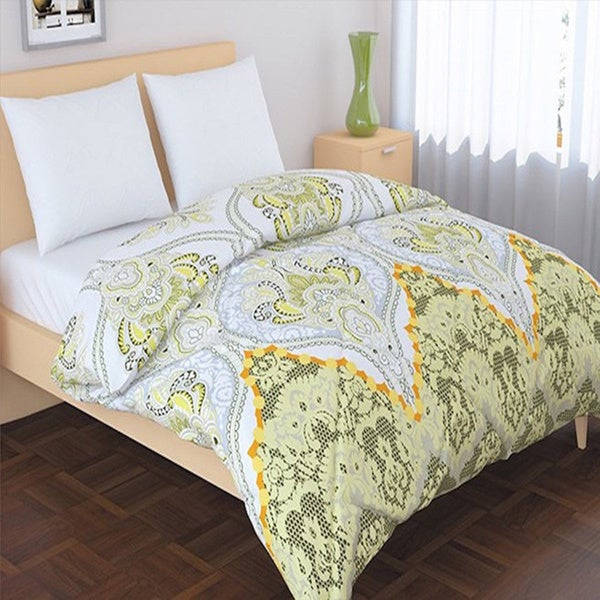 Panache Living Essential Printed Design Down Alternative Comforter