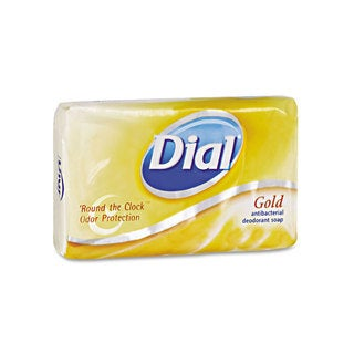 Dial Individually Wrapped Antibacterial Soap Pleasant Gold 4-ounce Bar 72/Carton