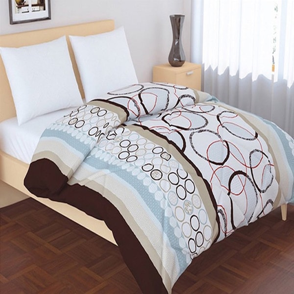 Panache Living Essential Printed Design Down Alternative Comforter