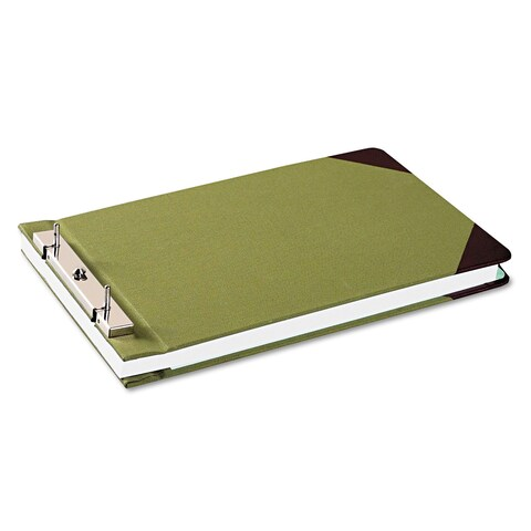 Wilson Jones Canvas Sectional Storage Post Binder 3 inches Capacity 8 1/2 x 14 Green