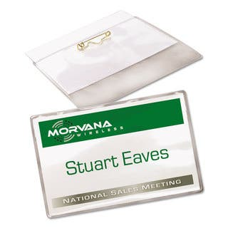 Avery Badge Holder Kit with Laser/Inkjet Insert Top Load 2 1/4 x 3 1/2 White 100/Box (Option: White)|https://ak1.ostkcdn.com/images/products/13881289/P20519910.jpg?impolicy=medium