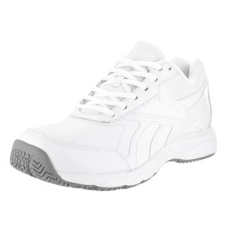 Reebok Women's Work N Cushion 2.0 White Leather Wide Casual Shoes