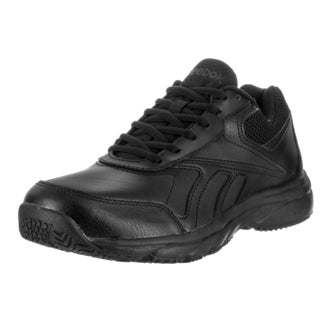 Reebok Women's Work N Cushion 2.0 Black Leather Wide D Casual Shoes