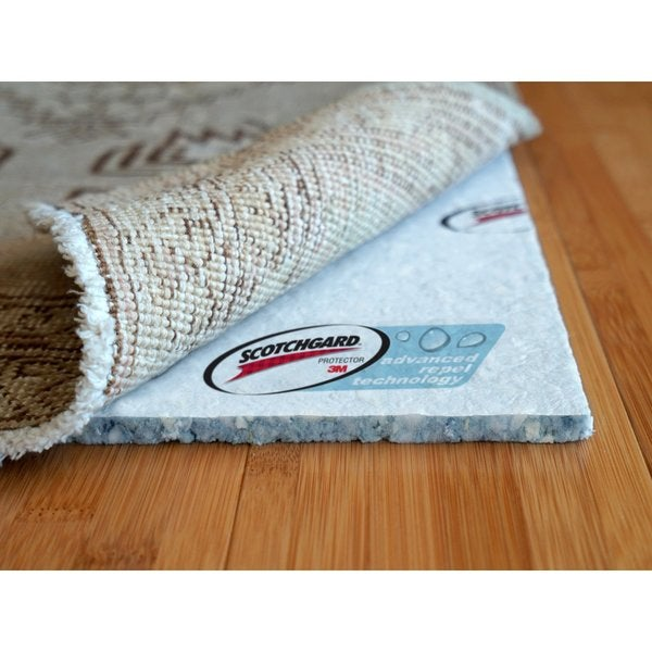 spillstop advanced technology waterproof cushioned rug pad (8' x