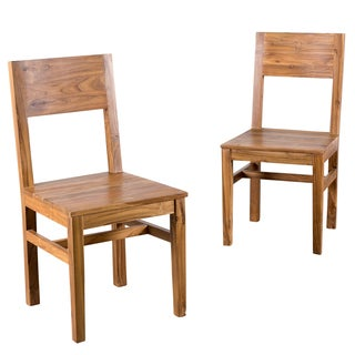 Organic Modern Reclaimed Teak Dining Chair (Set of 2)