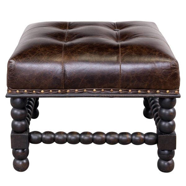 Miraculous Shop Handmade Button Tufted Bobbin Leg Ottoman India Gmtry Best Dining Table And Chair Ideas Images Gmtryco