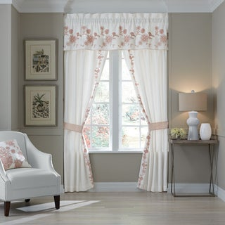 Fiona Pole Top Window Curtain Panel Pair