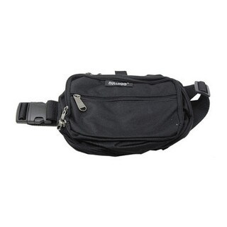 Bulldog Cases Black/Black Nylon Medium Fanny Pack Holster