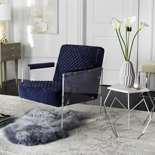 Safavieh Couture High Line Collection Malena Navy Blue Acrylic Arm Chair