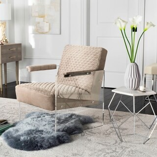 Safavieh Couture High Line Collection Malena Taupe Acrylic Arm Chair