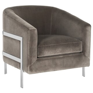 Safavieh Couture High Line Collection Vernon Grey Velvet Glam Club Chair