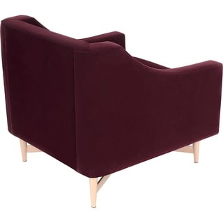Safavieh Couture High Line Collection Viansa Cabernet Velvet Chair