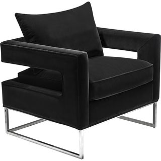 Safavieh Couture High Line Collection Olivya Black Velvet Club Chair