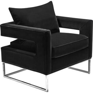 Safavieh Couture High Line Collection Olivya Black Velvet Glam Club Chair