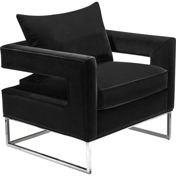 Ordinaire Safavieh Couture High Line Collection Olivya Black Velvet Glam Club Chair