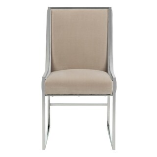 Safavieh Couture High Line Collection Arteaga Almond Velvet Side Chair