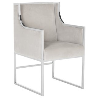 Safavieh Couture High Line Collection Arteaga Almond Velvet Arm Chair