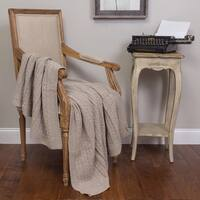 Kimberly Taupe Knitted Throw