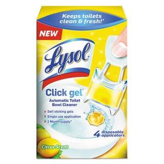 LYSOL Brand Click Gel Automatic Toilet Bowl Cleaner Citrus 0.17 oz 4/Box 5 Box/Carton
