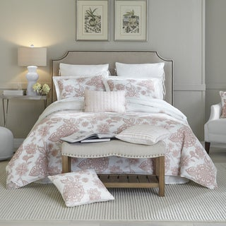 Croscill Fiona Blush Embroidered Cotton 4 Piece Comforter Set