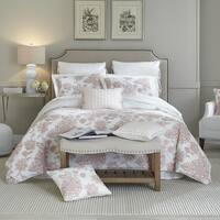 Croscill Fiona Blush Embroidered Cotton 4 Piece Comforter Set