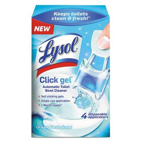 LYSOL Brand Click Gel Automatic Toilet Bowl Cleaner Ocean Fresh 0.17oz 4/Box 5 Box/Carton