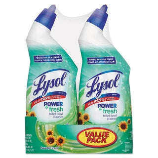 LYSOL Brand Power & Fresh Toilet Bowl Cleaner Cling Gel Country Scent 24-ounce 2 Band Pk 6 Pack/Carton
