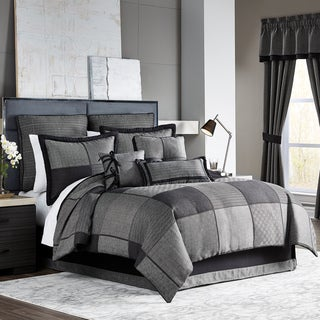 Croscill Oden Jacquard Woven Menswear Collection 4 Piece Comforter Set