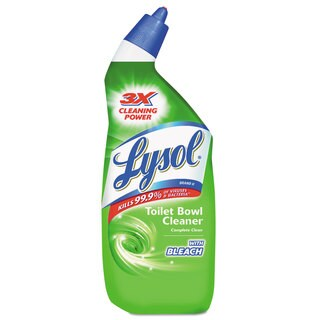 LYSOL Brand Disinfectant Toilet Bowl Cleaner with Bleach Liquid 24-ounce Bottle 12/Carton