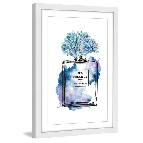 Marmont Hill - 'Floral Blue' by Amanda Greenwood Framed Painting Print