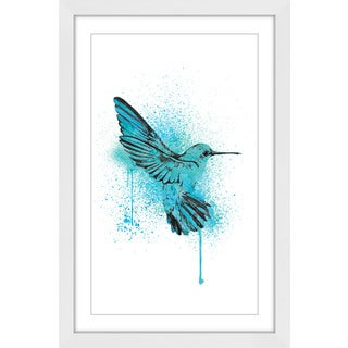 Marmont Hill - 'Hummingbird Blue' by Amanda Greenwood Framed Painting Print