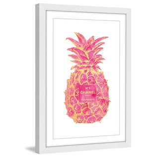 Marmont Hill - 'Pineapple Pink Gold' by Amanda Greenwood Framed Painting Print