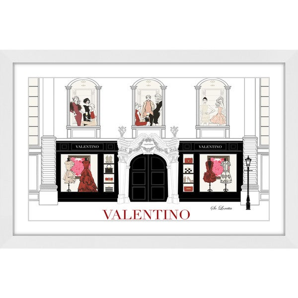 Marmont Hill - 'Fashion Store' by Loretta So Framed Painting Print