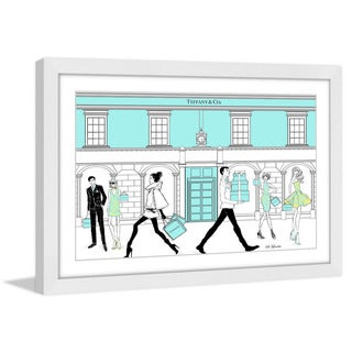 Marmont Hill - 'People Everywhere' by Loretta So Framed Painting Print