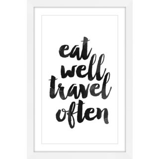 Marmont Hill - 'Eat Well Travel Often' by Dantell Framed Painting Print
