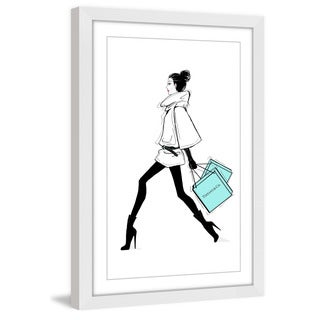 Marmont Hill - 'Always on the Go' by Loretta So Framed Painting Print