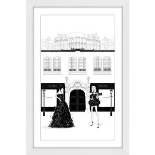 Marmont Hill - 'All Black' by Loretta So Framed Painting Print