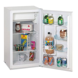 Avanti 3.3 Cu.Ft Refrigerator with Can Dispenser and Door Bins White