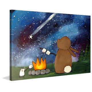 Marmont Hill - 'Campfire' by Andrea Doss Painting Print on Wrapped Canvas