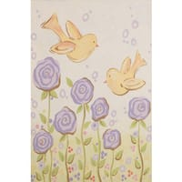 Marmont Hill - 'Blissful Chicks' by Reesa Qualia Painting Print on Wrapped Canvas - Purple